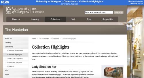 Huntarian Museum website
