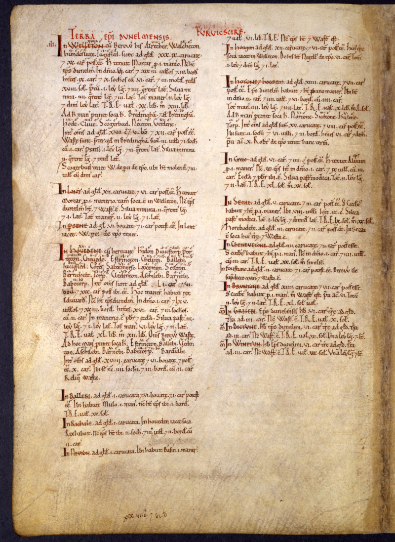 Great-Domesday-161_E31-2-2-f304v-Great-Domesday-Book-Yorkshire