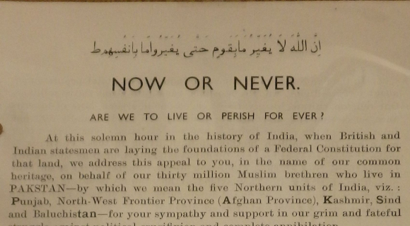 Beginning of 'Now or Never: Are we to live or perish forever?'