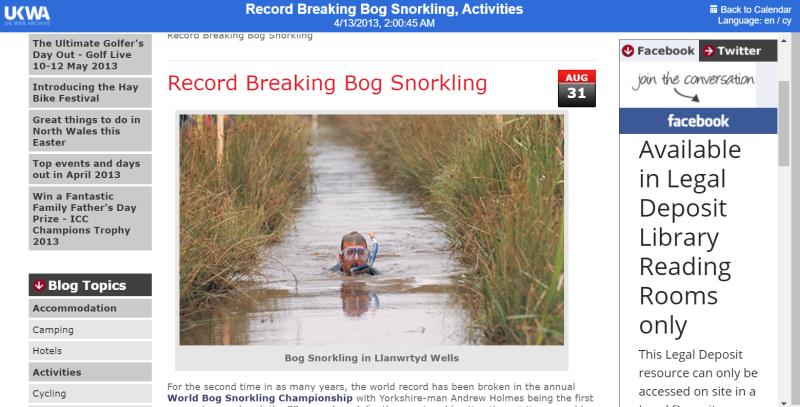 Bog-snorkling