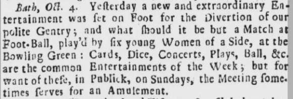 Report of women's six-a-side football match 1726