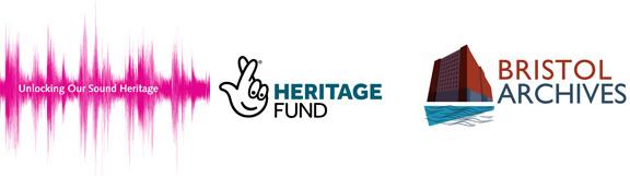 Three logos - UOSH - Heritage Fund - Bristol Archives