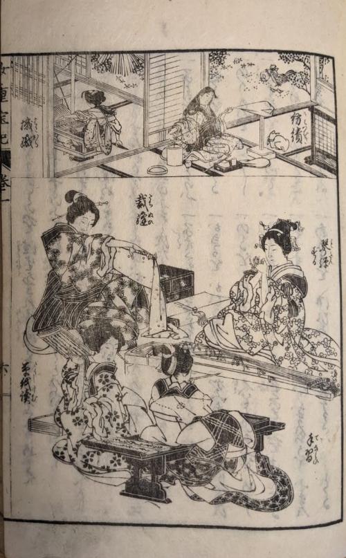 Illustration by Ōi Eijo from Eiri nichiyō Onna chōhōki