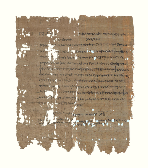 Two perfectly joining papyrus fragments preserve a full letter of 6 CE