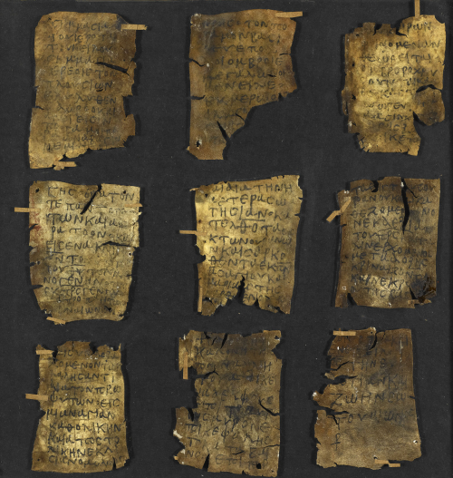 Nine parchment leaves from a miniature codex