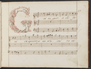 The opening of the duet 'Gia tu parti' in Steffani's own hand