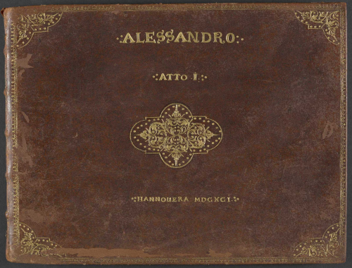 Original binding of Agostino Steffani's opera La superbia d'Alessandro