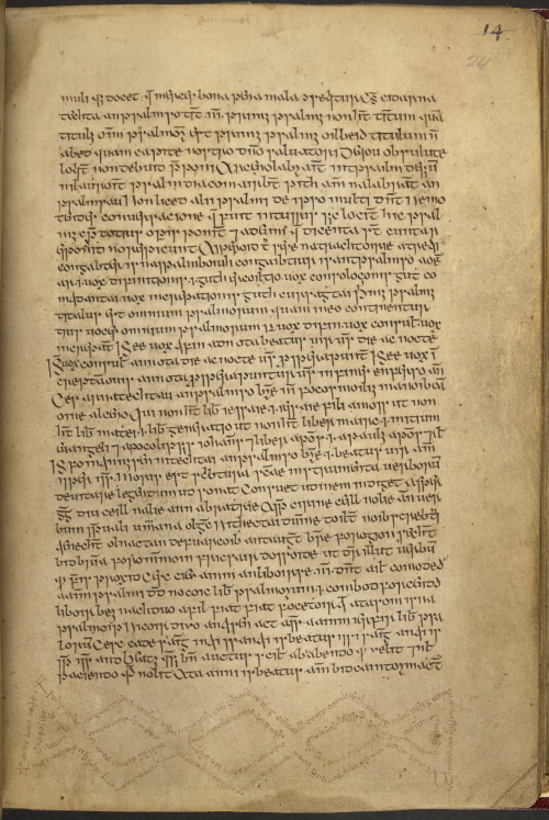 Alt text: A page from a 16th-century Irish manuscript on which a series of marginal verses are written in an interwoven diamond pattern.