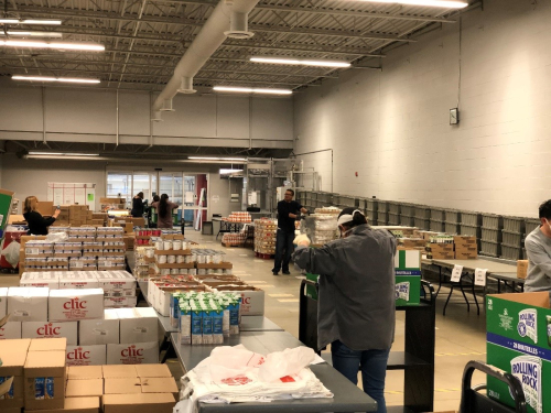 TPL's central distribution hub repurposed as a food bank packing facility
