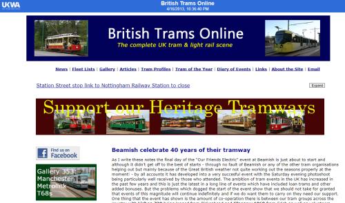 British trams online archived website