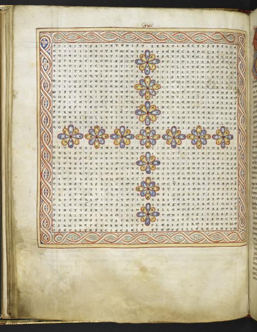 Figured poem in the shape of a cross from De Laudibus sancte crucis