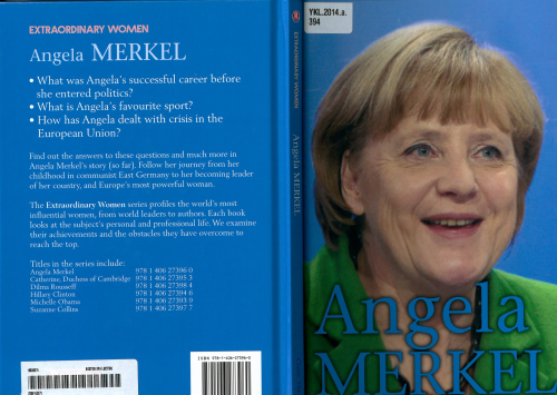 Cover of a book about Merkel for young readers