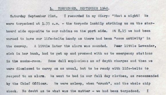 Extract from Herbert Todd's memoir, 1978.
