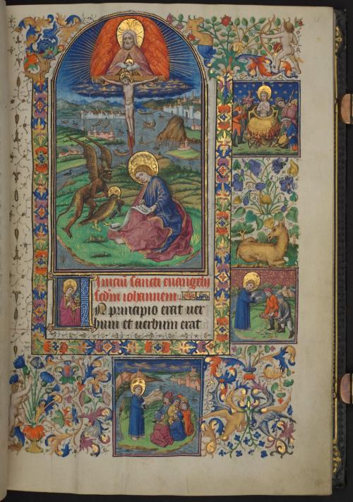 Miniature of St John the Evangelist