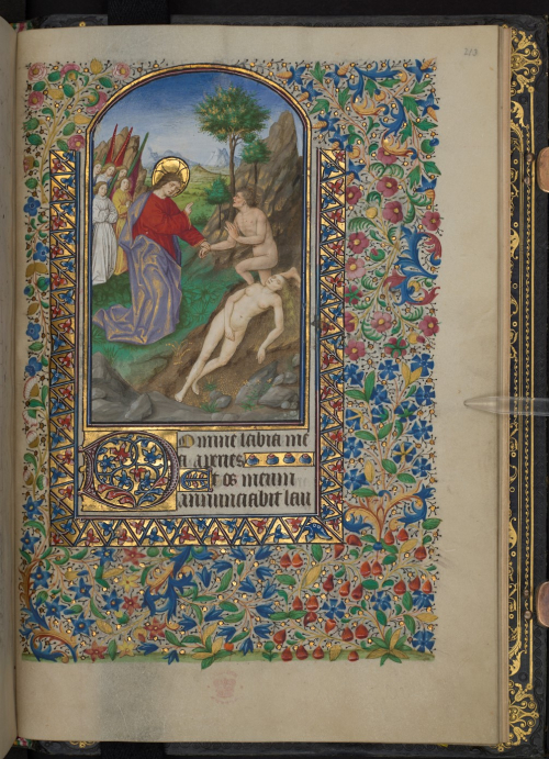 Miniature of God with Adam and Eve