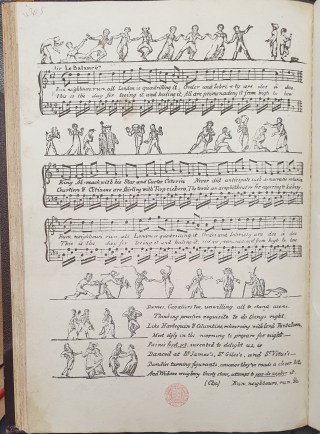 A page from Robert Southey's Quadrilling: A favourite Song, ascribed to the Authors of 'Rejected Addresses
