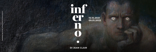 A poster for the exhibition Inferno.