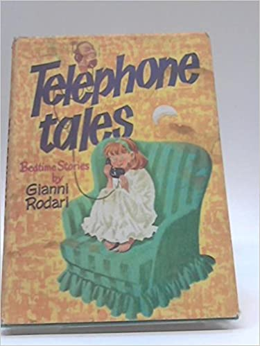 Cover of Telephone Tales with an illustration of a child sitting on an arm chair while on the telephone