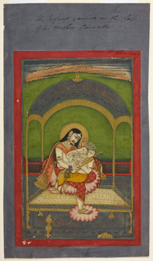 Ganesa on Parvati's lap
