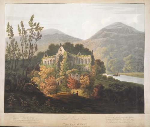 Tintern Abbey from Frederick Calbert, Four Views of Tintern Abbey, 1815. British Library, Maps.K.top.31.16.k.2. © Public Domain. Open in new tab to continue listening whilst browsing.