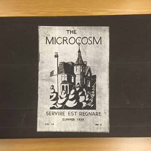 Front cover of Summer 1939 edition of Jhabvala's school magazine, Microcosm