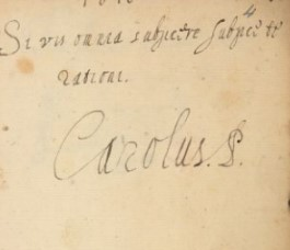 Autograph of Charles, Prince of Wales)