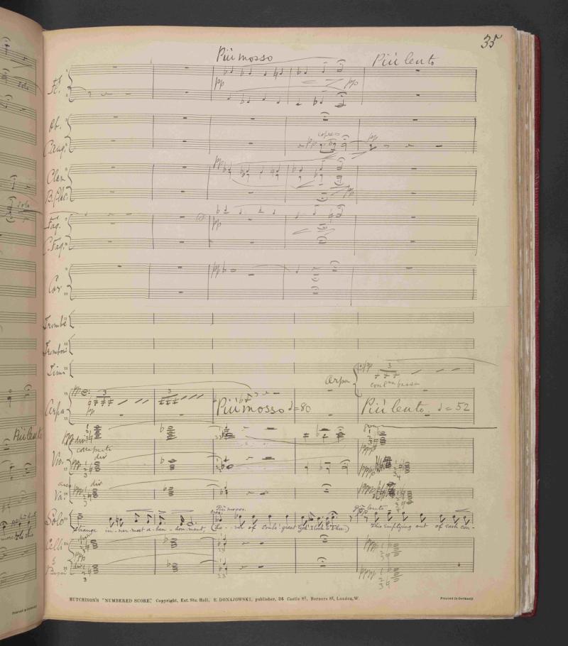 Elgar Gerontius score page 35