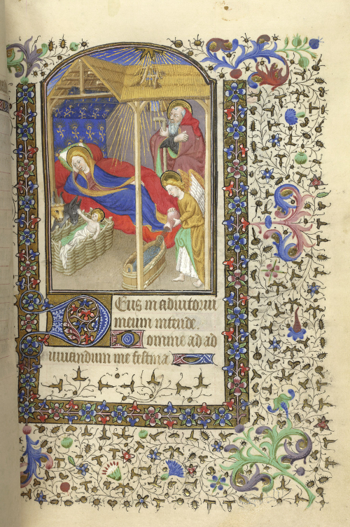 A Nativity scene in a Book of Hours