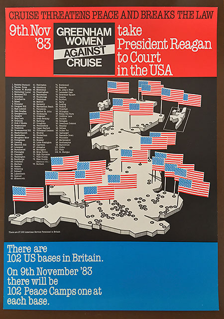 Greenham Women Against Cruise Map