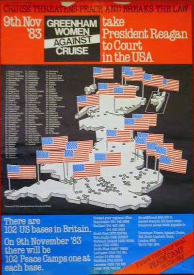 Photograph of Greenham Women Against Cruise Map