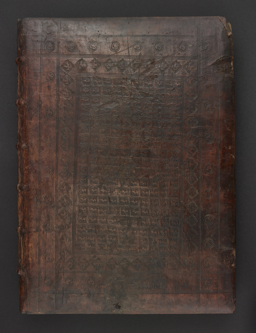 The binding of the Lewis of Caerleon manuscript