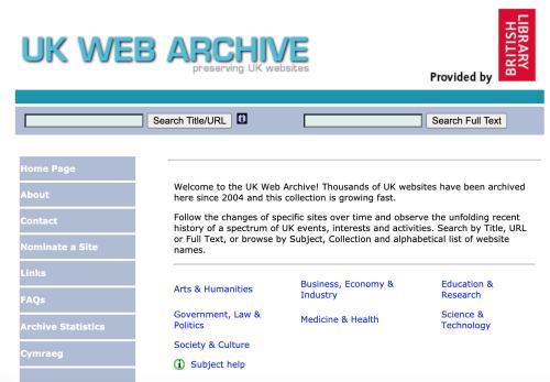 UKWA website 2008