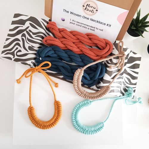 Norio Knots necklaces in different colours