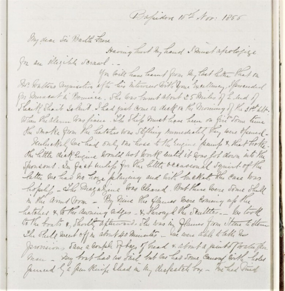Telegram from Lieutenant-Colonel Lewis Pelly  Bassidore  to Sir Bartle Frere 9 November 1866
