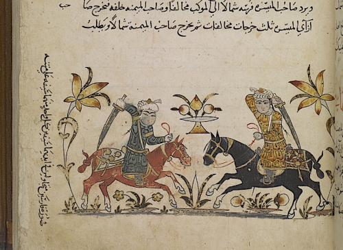 Horsemen in combat Add MS 18866 f135r