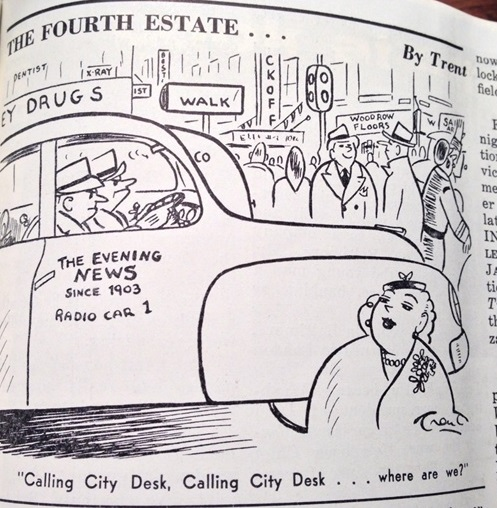 Image of cartoon stripe from the newspaper Editor & Publisher published on February 18, 1956