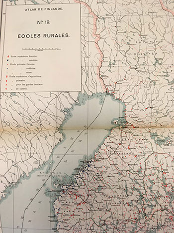 Atlas de Finlande, rural schools