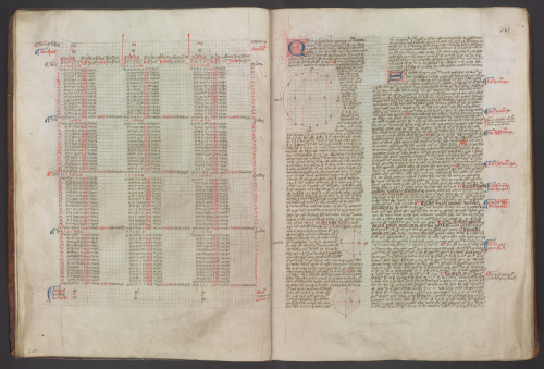 Astronomical tables and diagrams from the Lewis of Caerleon manuscript