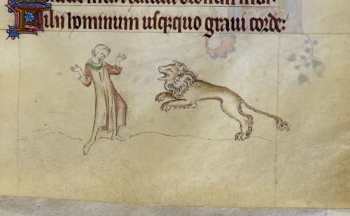 Lion attacking Royal 2 B. VII  f.87