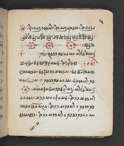An 18th century copy of the Visperad, with floral decoration. MSS Avestan 27, folio 6v