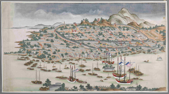 View of  Canton (Guangzhou) circa 1760-1770