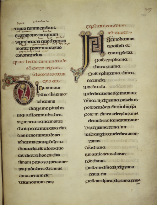 A text page from the Lindisfarne Gospels