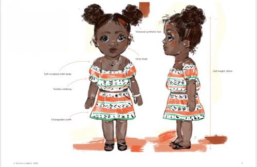 Akila Dolls example of an initial product design development