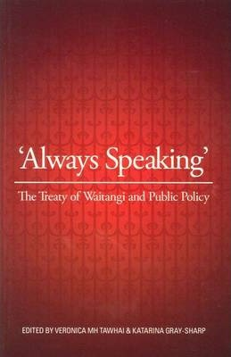 Front cover of Always Speaking edited by Veronica M.H. Tawahi and Katarina Gray-Sharp