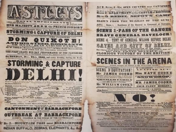Playbill for Storming and Capture of Delhi