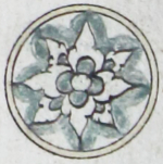Illuminated marginal medallion indicating the start of a new juz'-EAP1020-5-1.58-juz-b