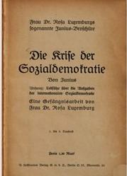 Cover of 'Die Krise der Sozialdemokratie'