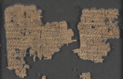 Two papyrus fragments of a Greek play