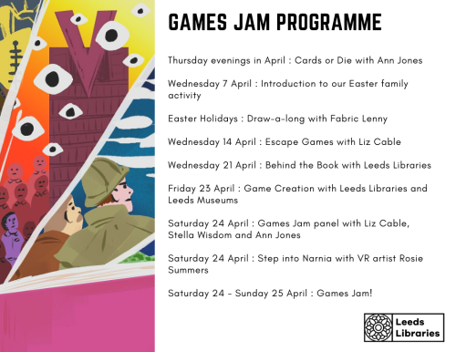 Leeds Libraries events games jam programme