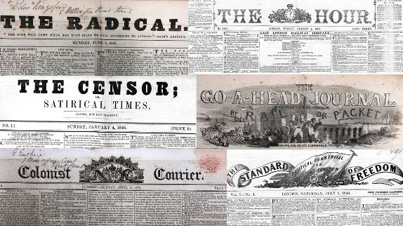 A selection of short-lived British nineteenth-century newspaper titles